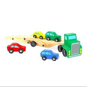 Melissa & Doug | Wooden Car Carrier Truck & Cars